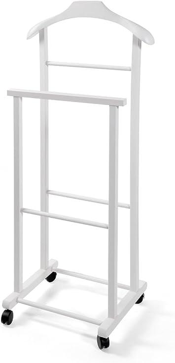 Home 50150 Valet de Chambre, Bois, Blanc, 44 x 30,5 x 103 cm ...