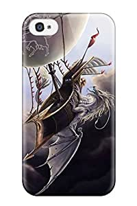 Excellent Design Dragon Fantasy Abstract Fantasy Phone Case For Iphone 4/4s Premium Tpu Case