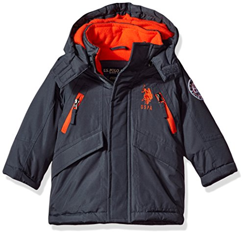 US Polo Association Toddler Boys' Outerwear Jacket (More Styles Available), UC09-Heavy-Charcoal, 4T