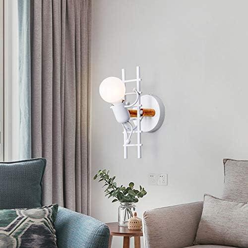 Applique da parete moderna semplice del fumetto Lampada da parete creativa Ferro da stiro a forma di luce SoggiornoE-nero