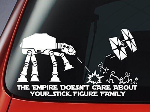 Vinilo adhesivo para ventana de coche, diseño de Star Wars con inscripción en inglés: Amazon.es: Hogar