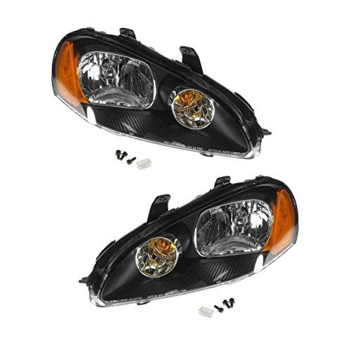 Headlights Headlamps Left & Right Pair Set for 03-05 Dodge Stratus 2 Door Coupe