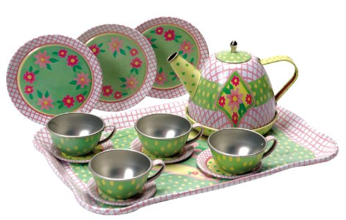 Schylling Children's Tin Tea Set (Set Tea Plastic)