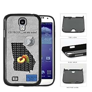 Georgia Peach State Tag Grunge Hard Plastic Snap On Cell Phone Case Samsung Galaxy S4 SIV I9500