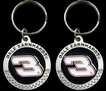 Hillman Nascar Dale Earnhardt #3 Key Chain - 2PK (Number Nascar Red)
