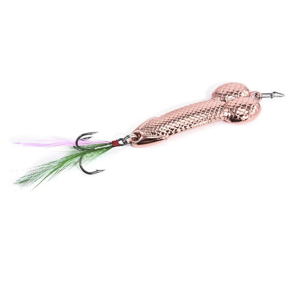Rose gold 3g Cikuso 1Pcs Fishing Lures Tackle Hook Dick Spinner Spoon Pike VIB Wobble Tackle Hook