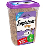 TEMPTATIONS Classic Treats for Cats Creamy Dairy Flavor 16 Ounce; Holiday Favorite for Your Cat's Stocking