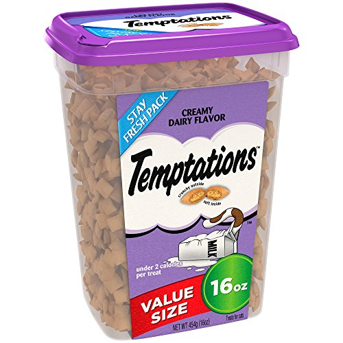 TEMPTATIONS Classic Treats for Cats Creamy Dairy Flavor 16 Ounces; With Our Mouthwatering Menu We Have a Flavor For Every - Mall Stores Sooner In