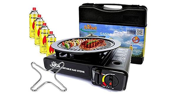 Estufa De Gas Camping Cocina + 4 x Gas kar aplicar el rimel + ...