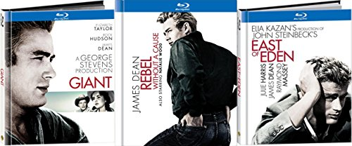 James Dean Digibook Blu-ray Collection - East of Eden, Giant & Rebel Without a Cause 3-Movie Bundle