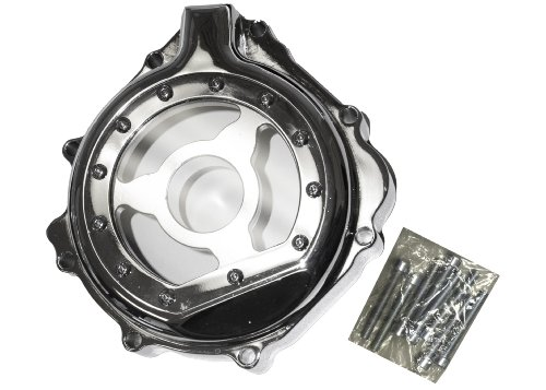 - Yana Shiki CA2839WIN Chrome Billet Aluminum Window Design Stator Cover for GSX-R 600/750/1000