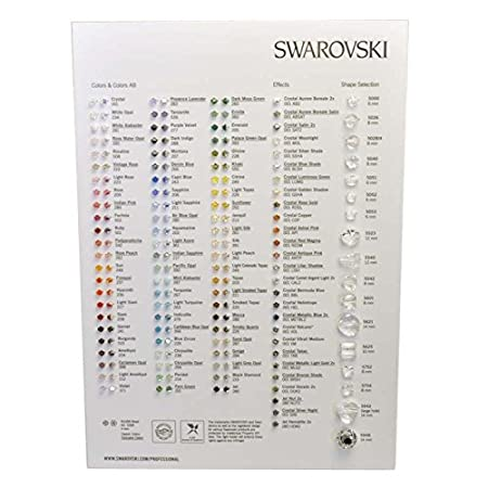 985cfc8ab6515d Swarovski Elements Bead Colour Chart Qty 1  Amazon.co.uk  Kitchen   Home