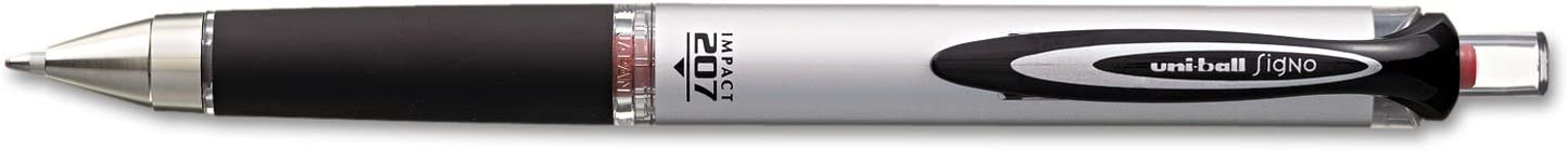 207 Impact Roller Ball Retractable Gel Pen Sold as 1 Each Red Ink Bold 6PACK