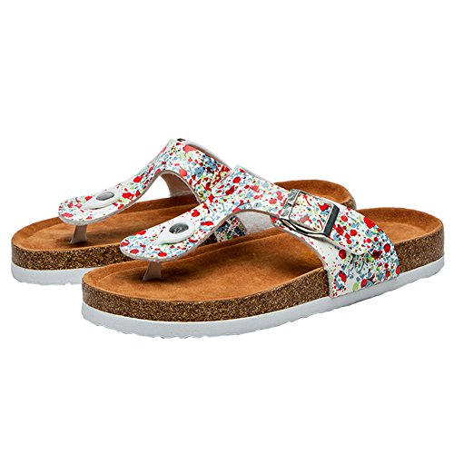 BigTree Sandals for Women T Strap Buckle Open Toe Gladiator Beach Thong Flat Summer Flip Flop Dot CtRgyx