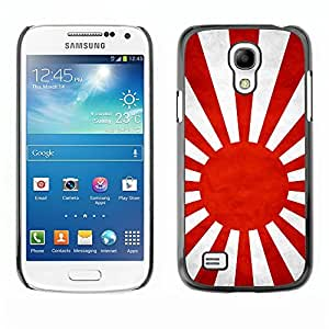 YOYO Slim PC / Aluminium Case Cover Armor Shell Portection //Japanese Naval Ensign Grunge Flag //Samsung Galaxy S4 Mini