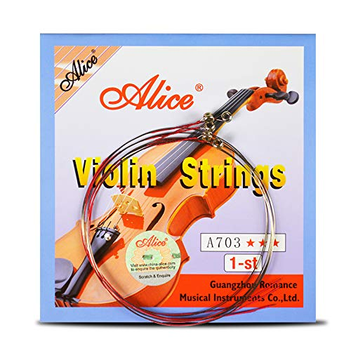 4 Pieces/set Violin Strings 1st-4th 1 Set E A D G for 1/8 1/4 1/2 3/4 4/4 Common Size - Alice A703 Violin Parts Accessories ()