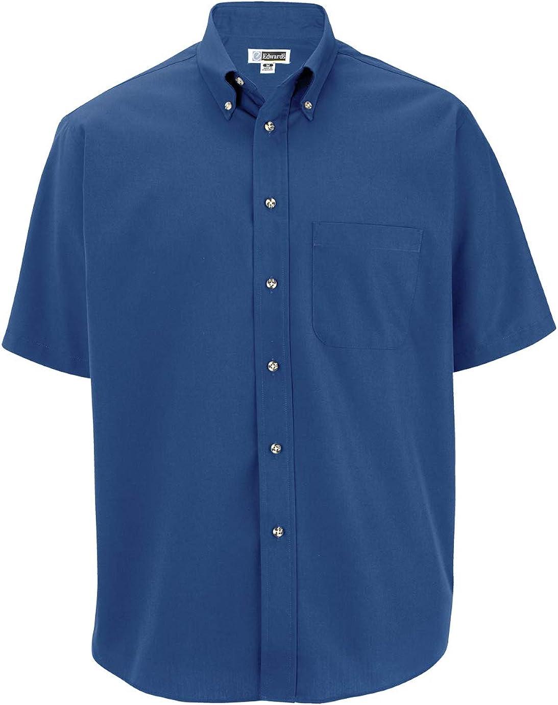 Edwards Mens Easy Care Short Sleeve POPLIN Shirt