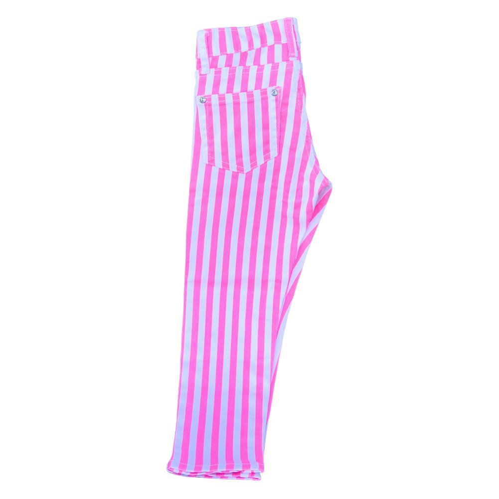 Striped Skinny Jeans (14, Pink)