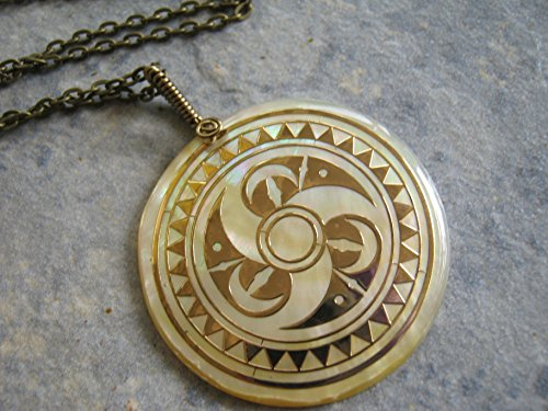 20-mother-of-pearl-crop-circle-necklace-20-inch-large-shell-necklace-limited-edition-sacred-geometry