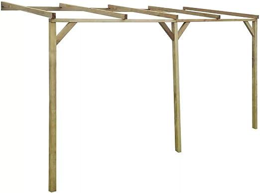 Premium Gartenpergola Anlehn-Pergola 2 x 4 x 2,2 m š Madera de ...