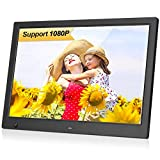 MRQ 13.3 Inch Digital Photo Frame with Multi Modes Slideshow to Display Wedding Album with Background Music, 1280x800 HD Digital Picture Frame Support 1080P Video and Motion Sensor, Auto-Rotate