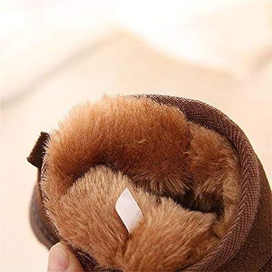 MK MATT KEELY Winter Boots Boys Girls Soft Warm Shoes Toddler Black Snow Boots Toddler//Little Kid