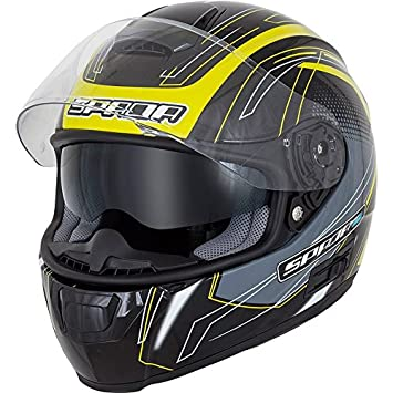 Spada SP16 gradiente Full Face casco de moto – negro/fluorescente