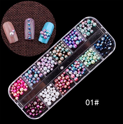 Ownsig 3D Nail Art Decals DIY Nails Decoration Tips Charms Accessories for Nails