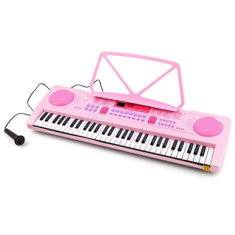Reducción de precio KYOKIM 61 DE Niños-Clave De Piano Electrónico, Multi-Funcional De La Niñez De La Educación Temprana Juguete con Micrófono