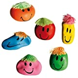 1x FUNNY STRESS MOODY FACE RELIEF BALL STRETCHY SQUEEZY SQUISHY MOULDING DOUGH NEW