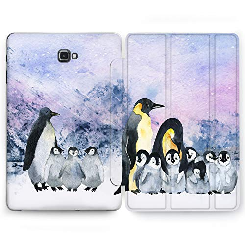 Wonder Wild Polar Penguin Samsung Galaxy Tab S4 S2 S3 Case 2015 2016 2017 2018 Tablet Cover 8 9.6 9.7 10 10.1 10.5 Inch Clear Design Mountain Snow Ice Animals King-Emperor Flightless Bird Parents]()