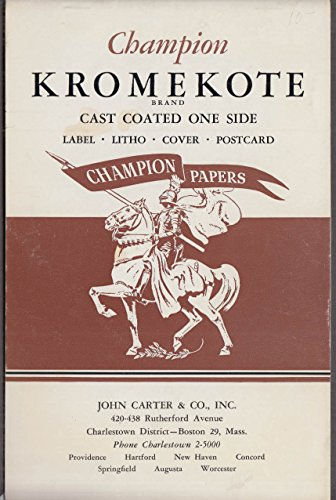 Champion Kromekote paper sample booklet ca 1955 John Carter Distributor from The Jumping Frog
