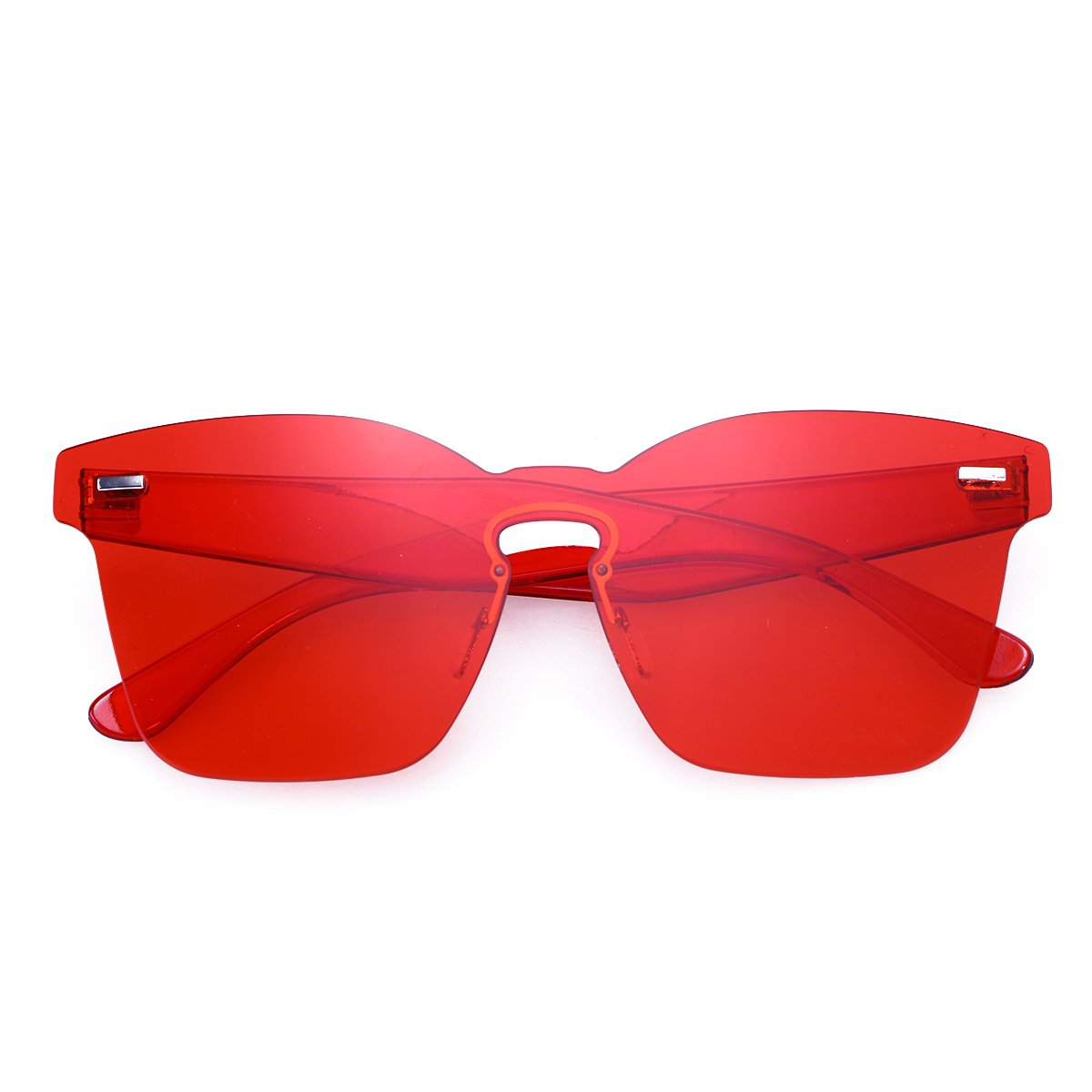 ed2f71e3844f OULII Rimless Sunglasses Novelty Pratical Beach Seaside Sunglass Mirror  Summer Eyewear for Men Women (Red) at Amazon Women's Clothing store: