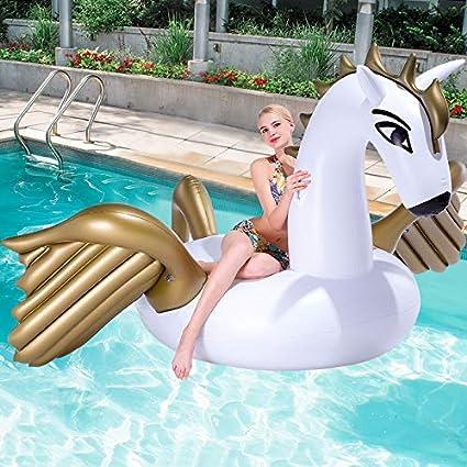 Hinchable Colchonetas Pegasus Unicornio De Oro Piscina ...