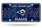 RICO INDUSTRIES Los Angeles Rams License Plate #1 Fan