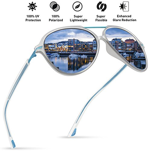06fa442fa4 Galleon - JULI Polarized Pilot Fashion Sunglasses For Men Women Tr90 Metal Frame  For Fishing Baseball Driving MJ8007