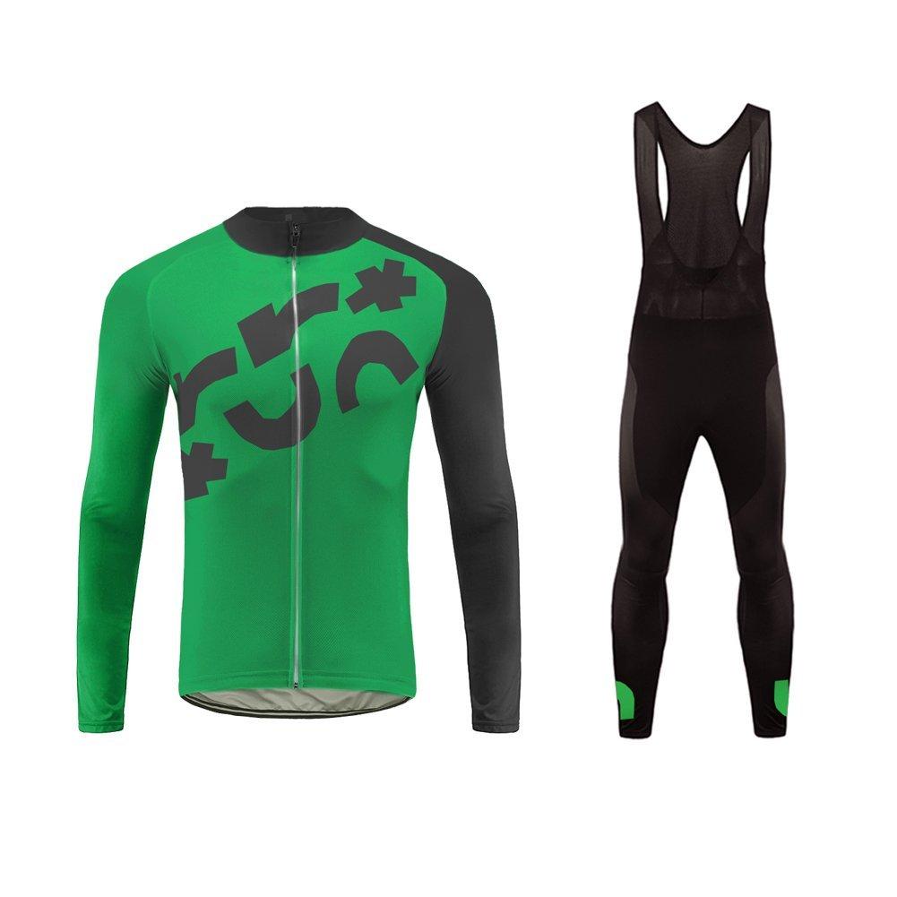 Uglyfrog Maillot Cyclisme Pantalon Cycliste Outdoor V/élo Sport Manche Musculation Rembourr/ée Respirant S/échage Rapide Costume VTT A09