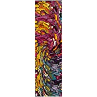 Safavieh Fiesta Shag Collection FSG373M Multicolored Runner (23 x 8)