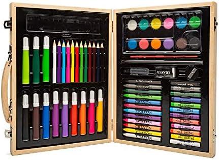 MELLRO Wasser Farbstift Für Kinder Schreibwaren Kit Geschenk 68 Stücke Wasser Farbe Stift Zeichnung Malerei Kunst Set Geschenke für Kinder (Color : Natural, Size : Free Size)