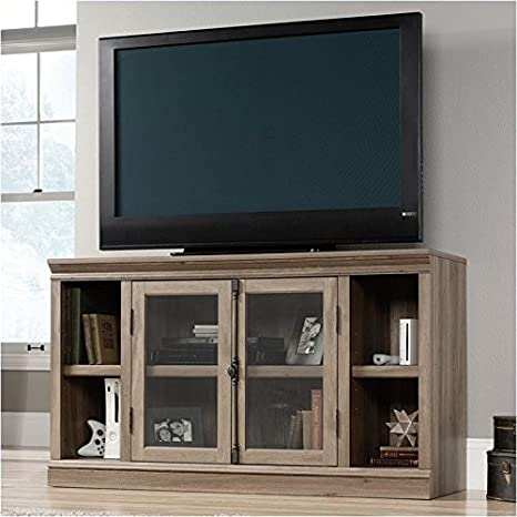 huge discount 89a17 06462 Amazon.com: Pemberly Row TV Stand in Salt Oak: Kitchen & Dining