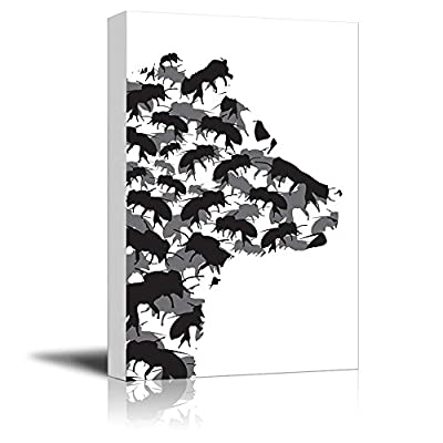 Alluring Visual, Honey Bear and Bees Silhouette Black and White Exclusive Artwork Quirky Fun Design, Made With Love