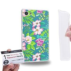 Case88 [Sony Xperia Z5 Compact / Mini] Gel TPU Carcasa/Funda & Tarjeta de garantía - Art Fashion Spring Season Floral 1829