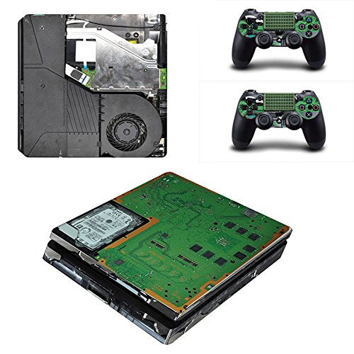 MightyStickers - Internal Parts PC PS4 Slim Console Wrap Cover Skins Vinyl Sticker Decal Protective for Sony PlayStation 4 Slim & Controller