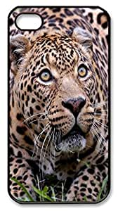 Animals 026 Polycarbonate Hard Case Cover for iPhone 4/4S Black wangjiang maoyi