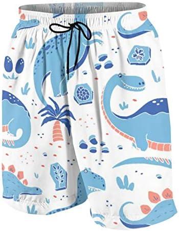 キッズ ビーチパンツ 面白い 恐竜 漫画 サーフパンツ 海パン 水着 海水パンツ ショートパンツ サーフトランクス スポーツパンツ ジュニア 半ズボン ファッション 人気 おしゃれ 子供 青少年 ボーイズ 水陸両用