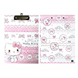 Sanrio Hello Kitty Hard Board Clip Board School Office (PINK(SKETCH))