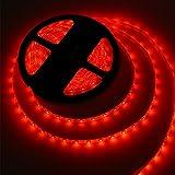 MEILI LED Light Strip SMD 3528 16.4 Ft 5 Meter Waterproof 300 LEDs 12V Flexible Rope Light (No Power Supply) - Red