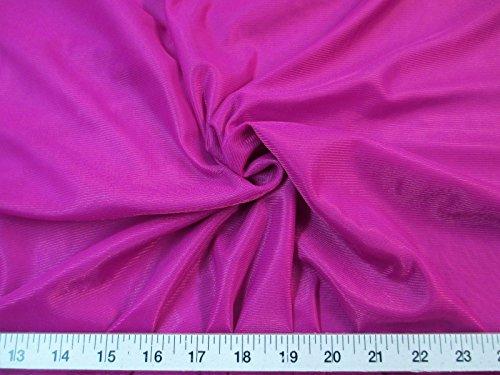 Yard Fabric Nylon 40 Denier Tricot Stretch Magenta 108 inch Wide TR07