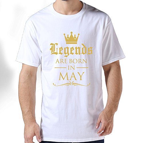 Legends Are Born In May Man's Short Sleeve T-shirt Tee 3X