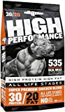 Bully Max High Performance Super Premium Dog Food (40 Pound Bag). for All Breeds and All Ages (Puppies and Adult Dogs). 535 Calories per Cup. for Muscle, Growth, and Weight.
